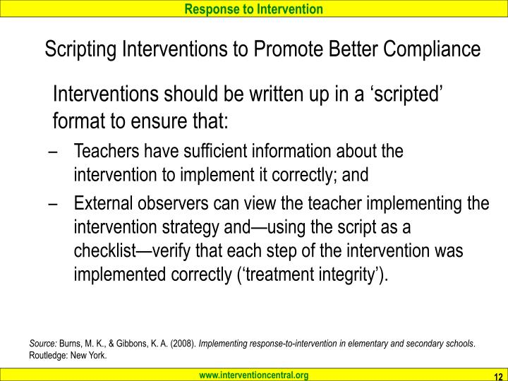 Scripting Interventions to Promote Better Compliance