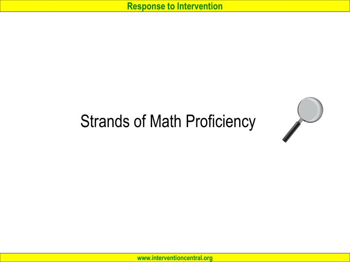 Strands of Math Proficiency