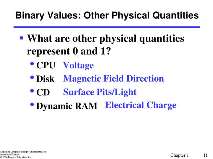 Binary Values: Other Physical Quantities