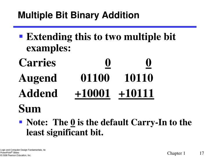 Multiple Bit Binary Addition