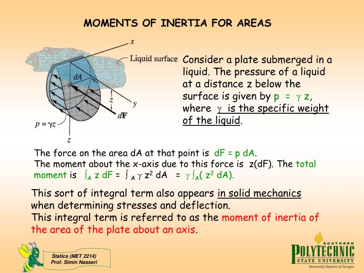 moment of inertia essay A playground merry-go-round has radius 2 4m and moment of inertia 2100 kg•m2 about a vertical axle through its center, and it turns with negligible friction a) a child applies 18n force tangentially to the edge of the merry-go-round for 15s.
