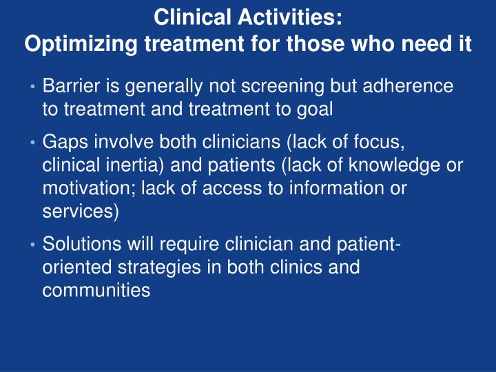 Clinical Activities:
