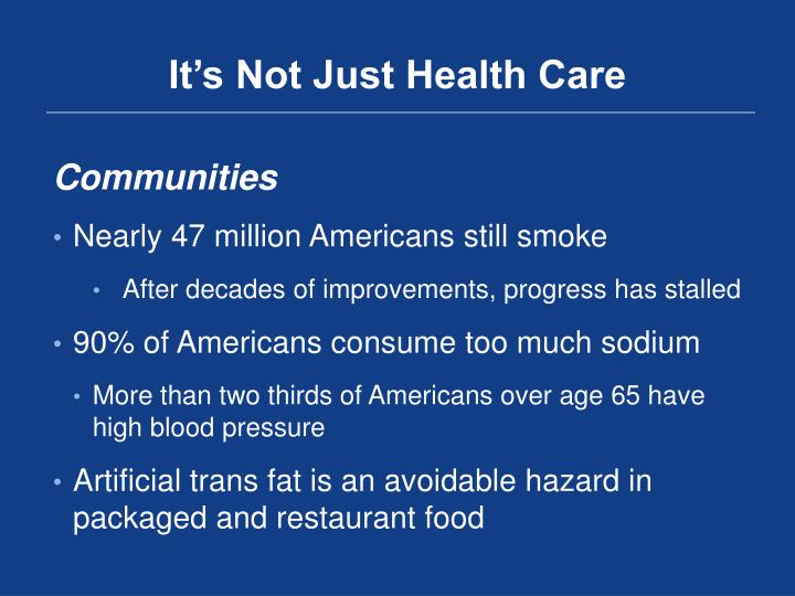 It's Not Just Health Care