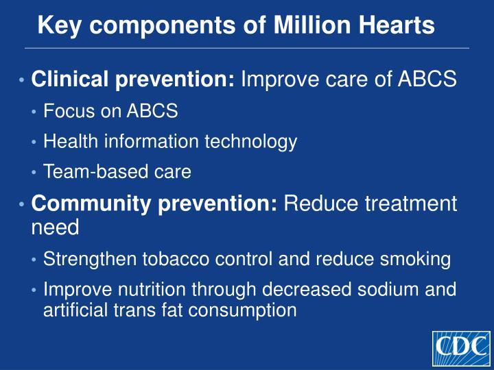 Key components of Million Hearts