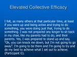 elevated collective efficacy