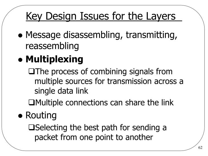 Key Design Issues for the Layers