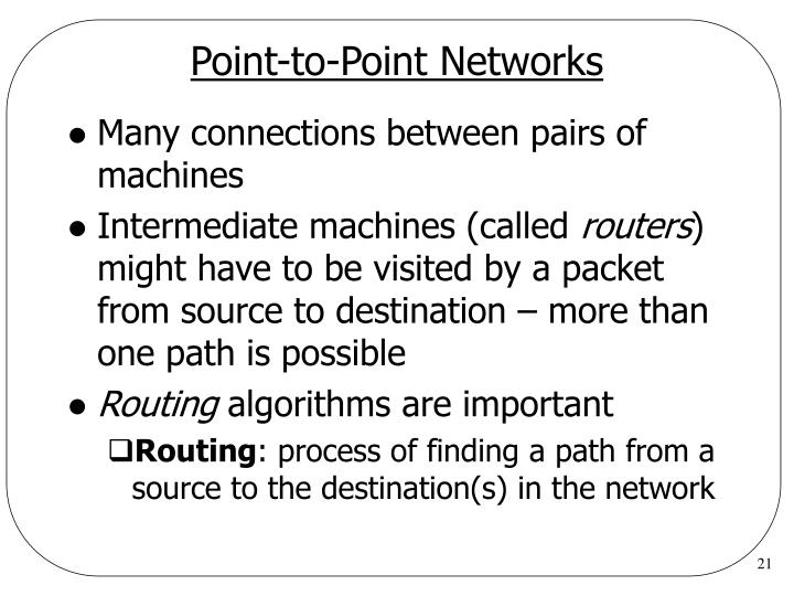 Point-to-Point Networks