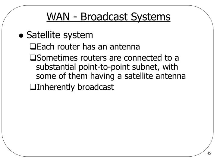 WAN - Broadcast Systems