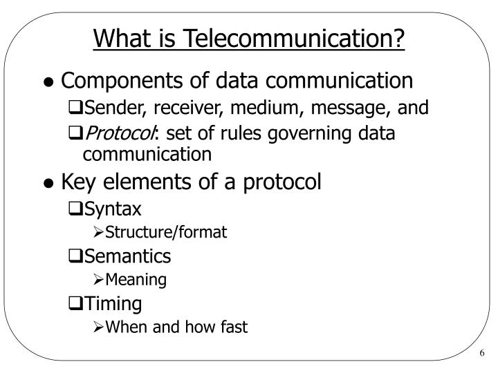 What is Telecommunication?