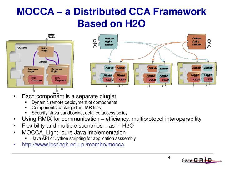 MOCCA – a Distributed CCA Framework Based on H2O