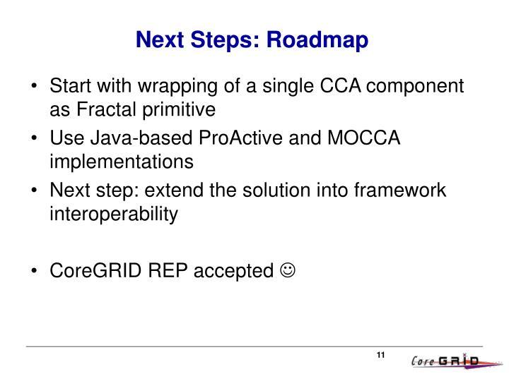 Next Steps: Roadmap