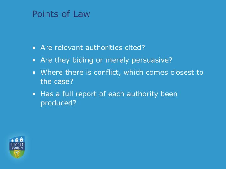 Points of Law
