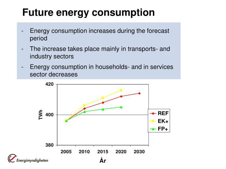 Future energy consumption