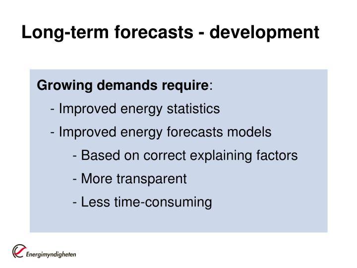 Long-term forecasts - development