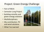 project green energy challenge