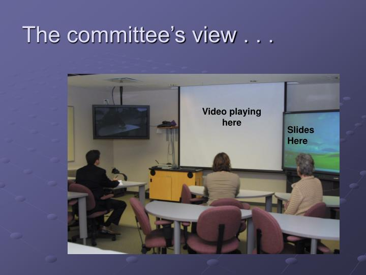 The committee's view . . .