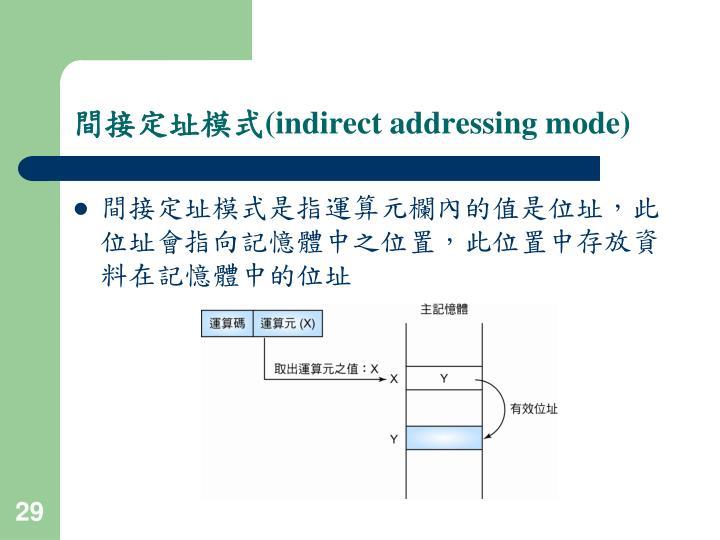 間接定址模式