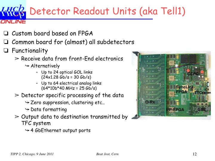 Detector Readout Units (aka Tell1)