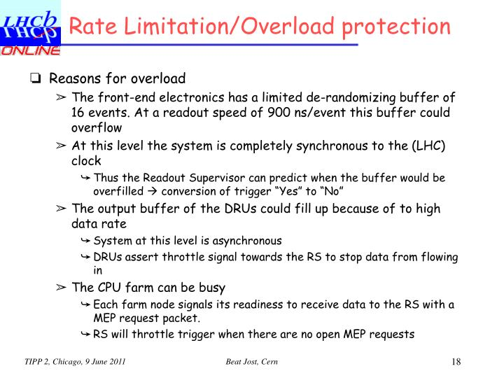 Rate Limitation/Overload protection