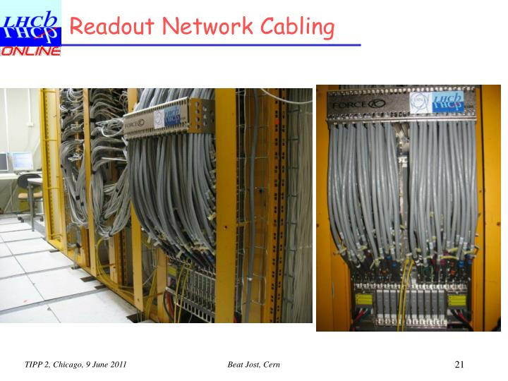 Readout Network Cabling