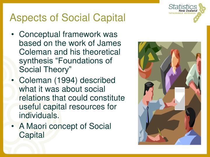 Aspects of Social Capital