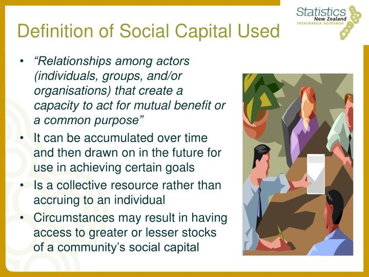 Definition of Social Capital Used