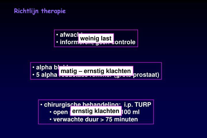 Richtlijn therapie