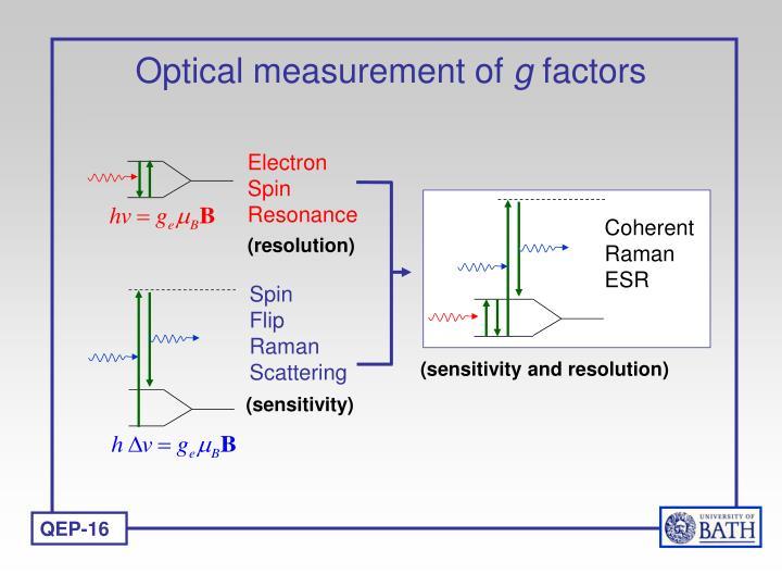 Optical measurement of g factors