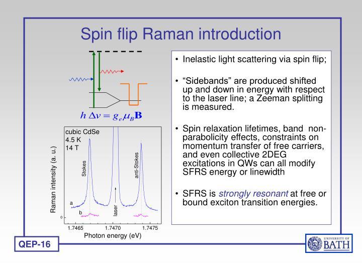 Spin flip Raman introduction