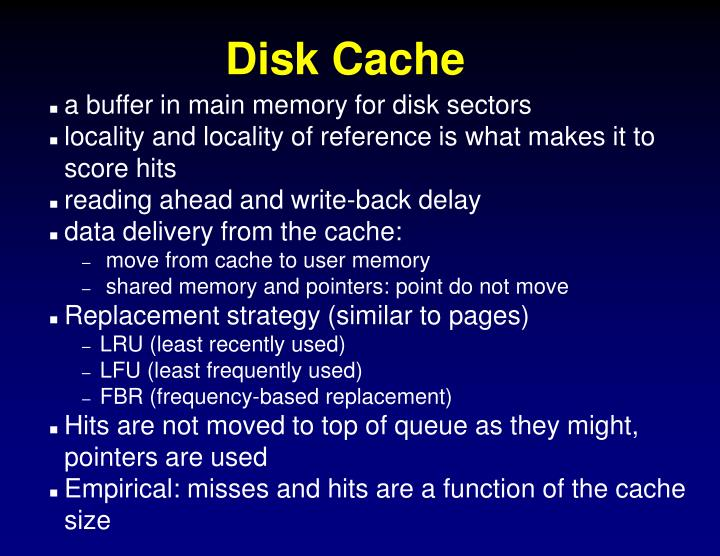 a buffer in main memory for disk sectors