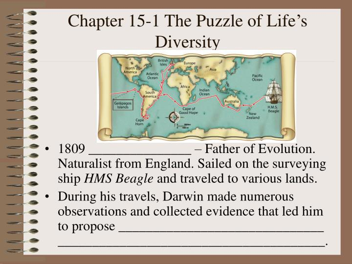 Chapter 15 1 the puzzle of life s diversity