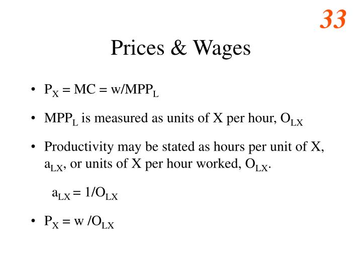 Prices & Wages