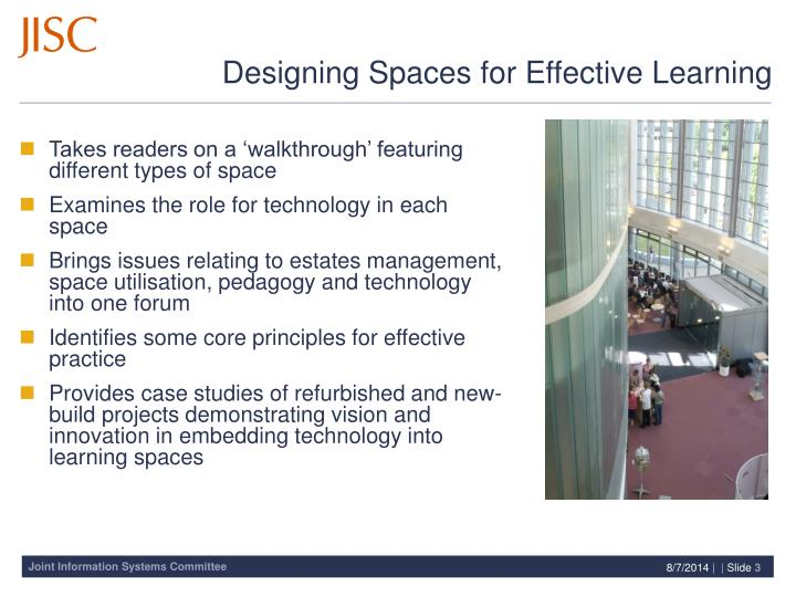 Designing spaces for effective learning1