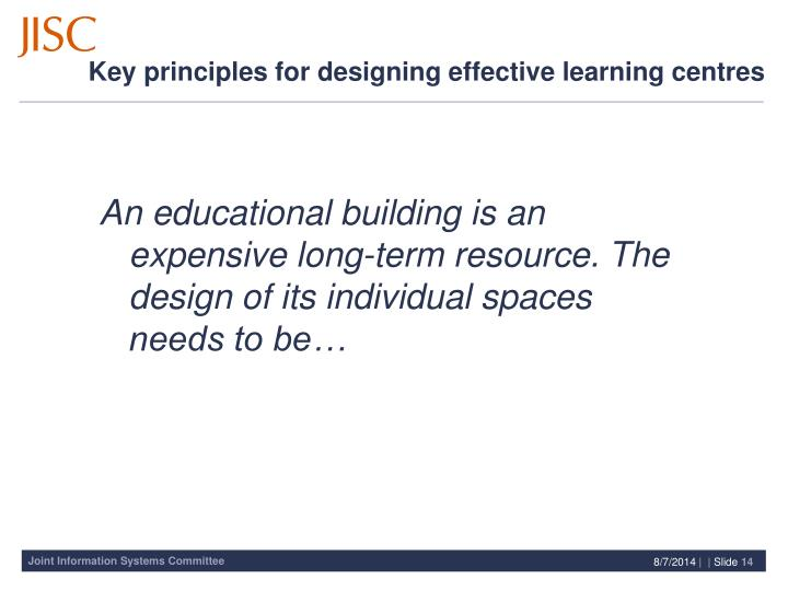 An educational building is an expensive long-term resource. The design of its individual spaces needs to be…