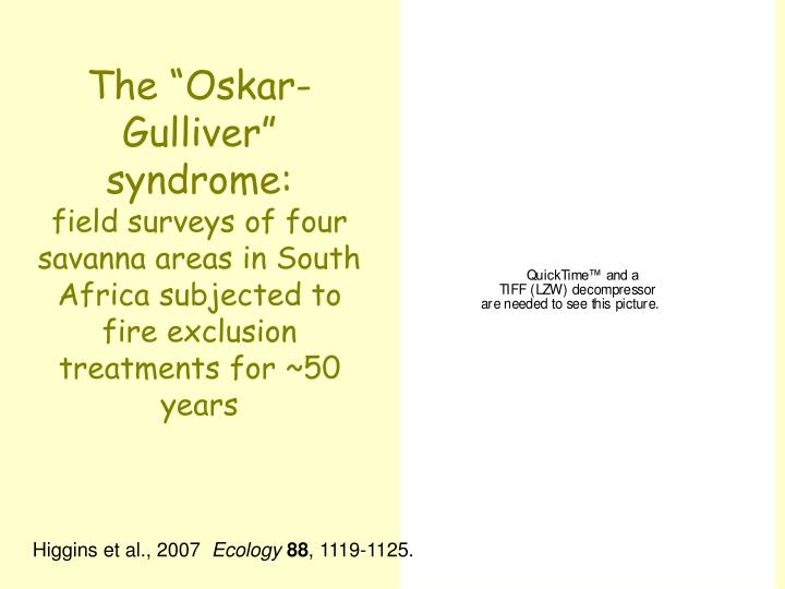 "The ""Oskar-Gulliver"" syndrome:"
