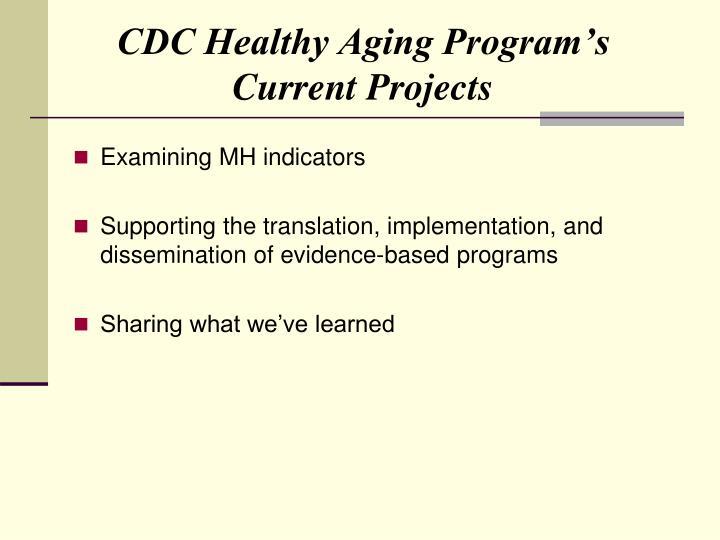 CDC Healthy Aging Program's