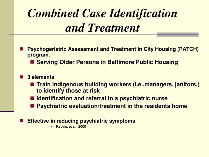 Combined Case Identification