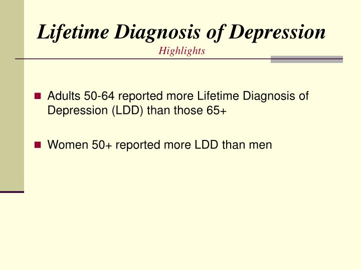 Lifetime Diagnosis of Depression
