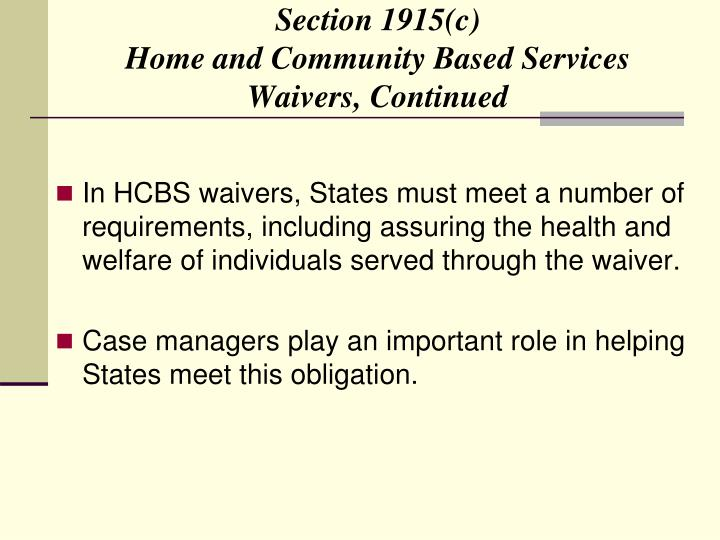 Section 1915(c)