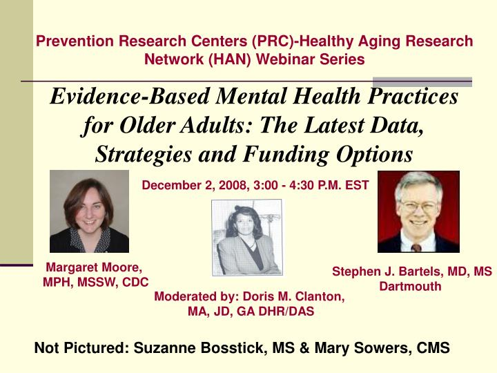 Prevention Research Centers (PRC)-Healthy Aging Research