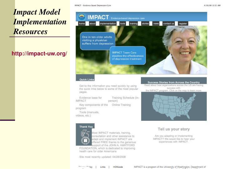 Impact Model Implementation