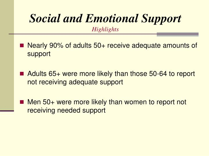Social and Emotional Support