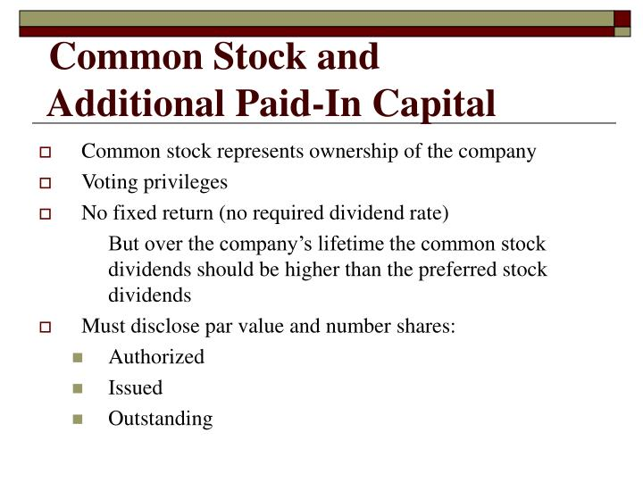 Common Stock and
