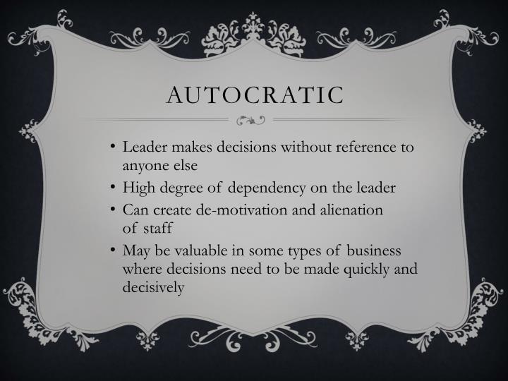 Autocratic