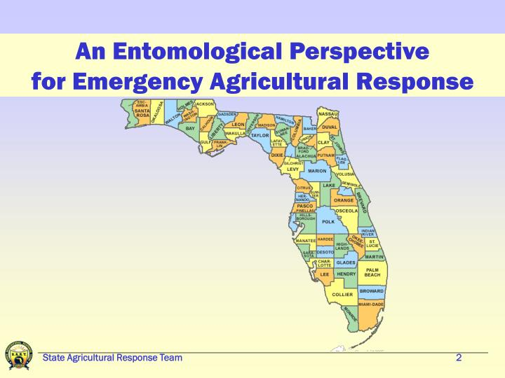 An entomological perspective for emergency agricultural response