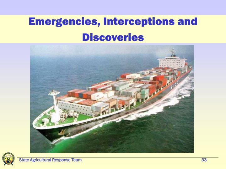 Emergencies, Interceptions and