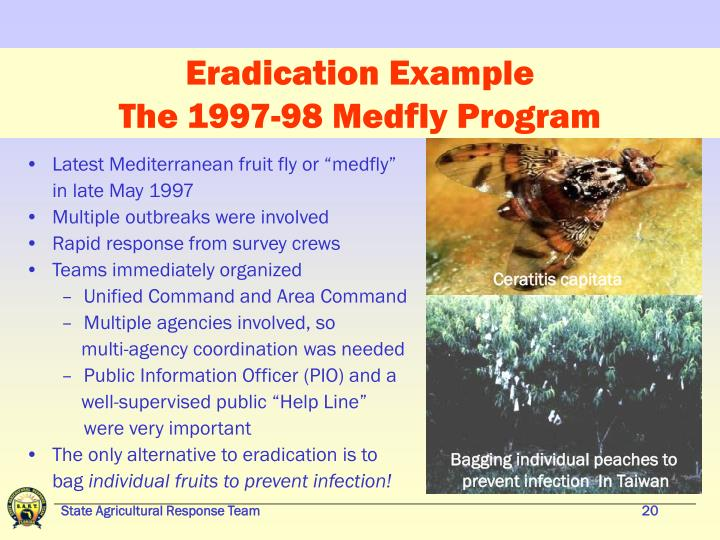 Eradication Example