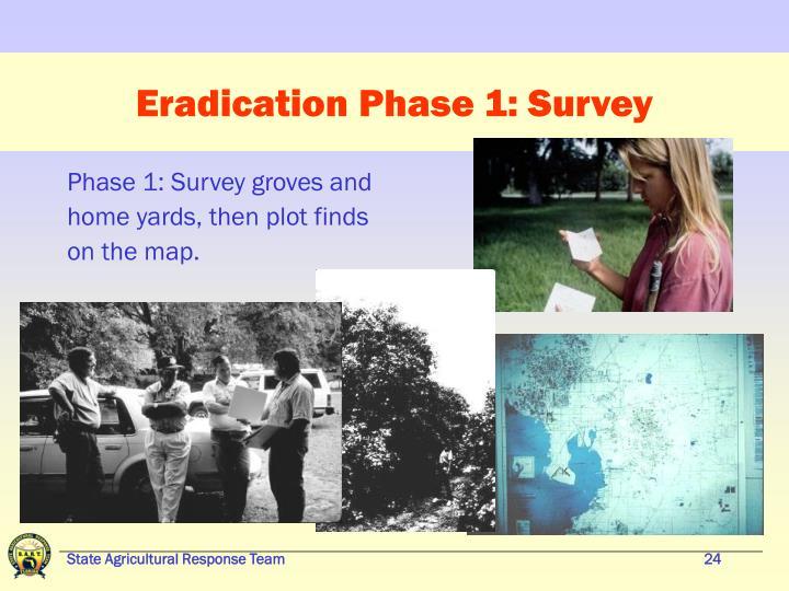 Eradication Phase 1: Survey