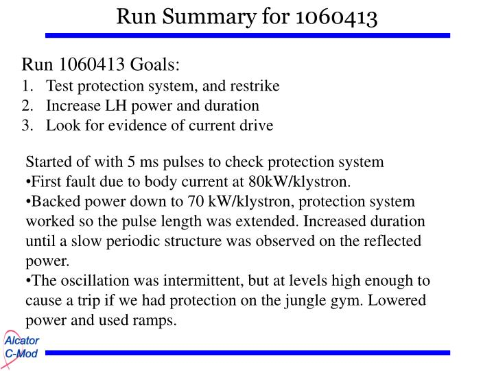 Run summary for 1060413