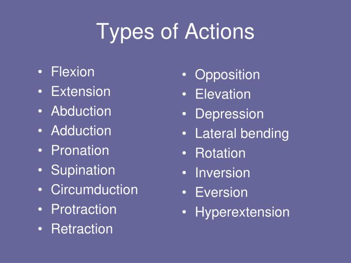 Types of actions